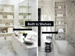 built in shelves bathroomone room challenge built in shelves bathroom  marble bathroom built in corner shelves