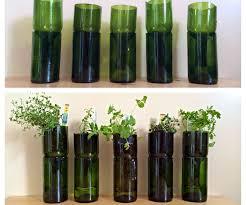 DIY Wine Bottle Herb Planter