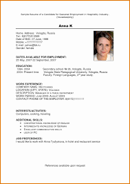Resume Bio Example Bio Resume Examples Krida 56
