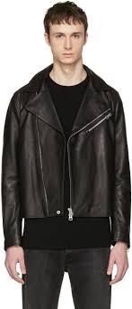 acne studios black leather axl jacket men acne studios jensen hot