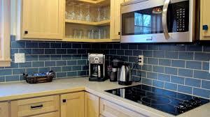 bimini blue backsplash in 3x6 subway tile kitchen stainless steel with laminate countertop wilsonart white grout