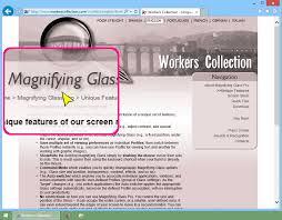 desktop magnifying glass at work