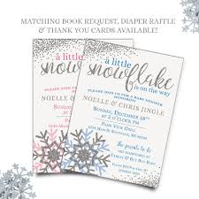 Snowflake Baby Shower Invitations Pin By Little Ham Collection On Baby Shower Invitations Baby