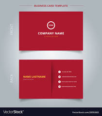 Namecard Format Creative Business Card And Name Card Template Red