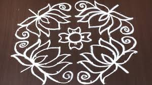 Step By Step Kolam Designs With Dots Lotus Kolam With Dots Step By Step 12 To 6 Dots Rangoli