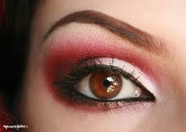 red devil eye makeup