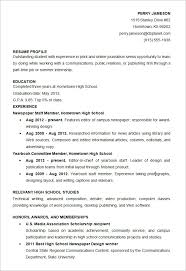 Resume Template For High School Students – Fieldo Flyers