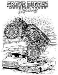 Small Picture Download Grave Digger Monster Truck Coloring Pages Printable