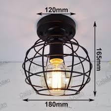 Nieuwe Edison 9 Maten Van Ijzeren Kooi Zwart Vintage Oude Plafond