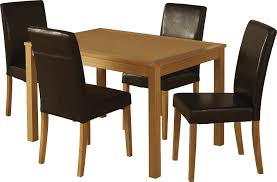 a compact square dining table with 4 smart looking chairs