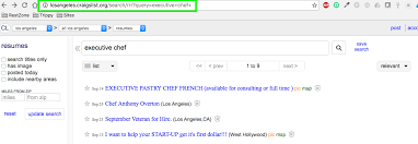 Craigslist Resumes Awesome 6617 How To Create Resume Alerts On Craigslist The Restaurant Zone