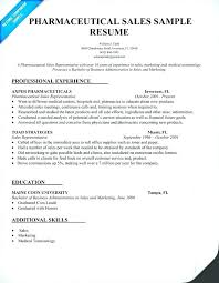 Pharmaceutical Sales Rep Resume Entry Level Pharmaceutical Sales