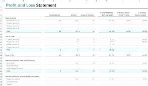monthly profit and loss statement template free download simple monthly profit and loss statement template
