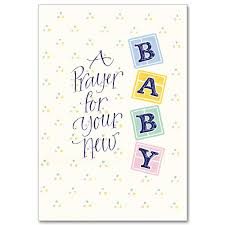 New Baby Congratulations Cards A Prayer For Your New Baby Baby Congratulations Card