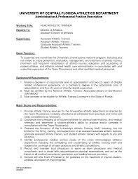Ideas Of Athletic Trainer Resume Sample Excellent Collection