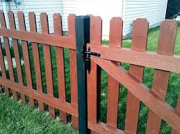 image of wood picket fence installation