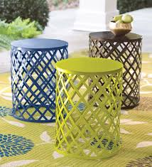 fabulous yellow metal side table with dining room best tanner round coffee table bronze finish pottery