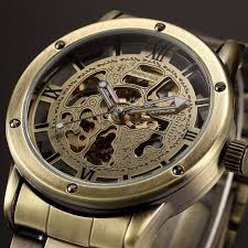 popular vintage automatic watch buy cheap vintage automatic watch full stainless steel brand vintage bronze men watches skeleton clock male antique casual automatic mechanical watches