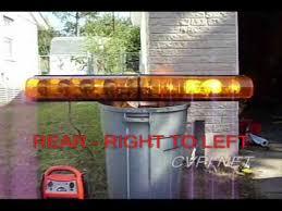 federal signal aerodynic amber lightbar
