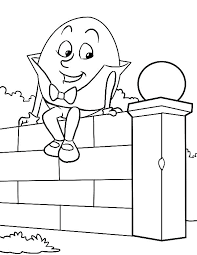 humpty dumpty coloring page humpty dumpty nursery rhyme coloring page