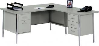 furniture l soft grey wooden desk with drawers and stainless steel legs alluring grey alluring gray office desk