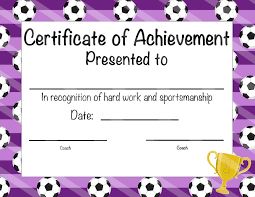 soccer awards templates soccer certificate of participation soccer award print at