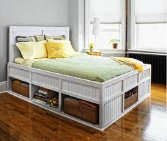 elegant bedroom interior design with queen platform bed with