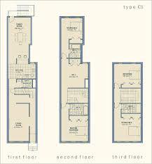 modern narrow row house floor plans for brilliant decor ideas 98 with narrow row house floor