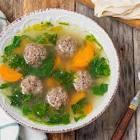 authentic sopa de albondigas  meatball soup