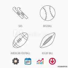 Baseball Signals Chart Sport Fitness Rugby Ball And Baseball Icons American