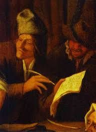 Oil Painting Signing Of A Marriage Contract Detail C 1650