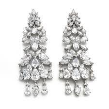 large silver chandelier earrings