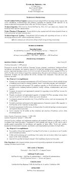 Telecommunications Network Engineer Sample Resume Letter