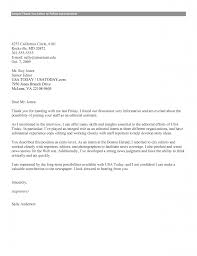 Letter Interview Follow Up Letter Template