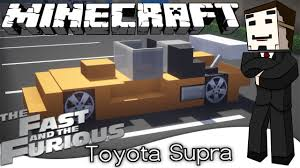Minecraft Vehicle Tutorial - How to Build : Toyota Supra. - YouTube
