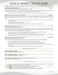 resume samples for s and marketing jobs marketing