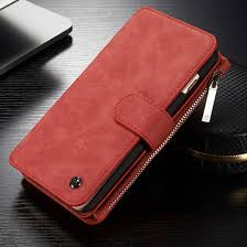 caseme luxury wallet case rood voor apple iphone 6 plus 6s plus