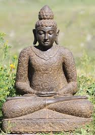 buddha garden statue. Stone Meditating Buddha Garden Statue 24\