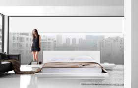 ... Opal White Glossy Platformse Style Contemporary Home Decor With Lights  Frames 93 Unusual Japanese Platform Bed ...