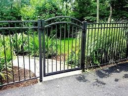 3 rail aluminum fencing and arched walk