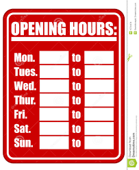 printable store hours sign open hours template under fontanacountryinn com