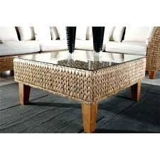 coffee table medium size of tables chairs rattan with glass natural finish pottery barn round seagrass