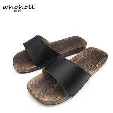 <b>WHOHOLL Geta Summer</b> Sandals Men Japanese Geta Wooden ...