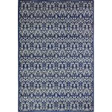 contemporary dark blue 8 foot runner rug everek
