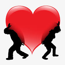 hearts silhouette two people to lift hearts silhouette hearts love png image and