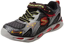 skechers shoes light up white. skechers kids ipox rayz light-up sneaker shoes light up white