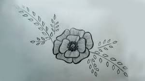 Flower Design Drawing Pencil Drawing A Beautiful Flower Design Easy Beautiful Flower Art By Pencil