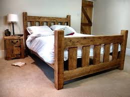 Image of: Rustic Ideas Bed Frame