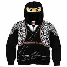 Ninjago Hoodie Jacket Hoodie Size 14-16 XL Lego Child Cole New Black  Costume for sale online