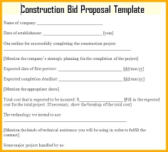 Contract Bid Proposal Project Bid Proposal Template Tender Project Bid Proposal Sample